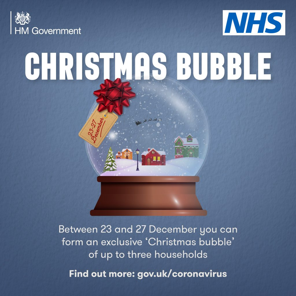 NHS Message - Christmas Bubble - 23-27 December 2020